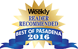 Weekly Reader Recommended - Best of Pasadena - 2016