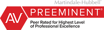 Martindale-Hubbell - AV Preeminent - Peer Rated for Highest Level of Professional Excellence